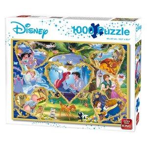 King Puzzel Disney Movie Magic 1000 Stukjes
