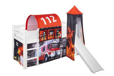 Halfhoogslaper Brandweer met tent, toren en glijbaan
