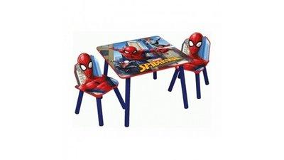 Kindertafeltje met 2 stoeltjes Spiderman