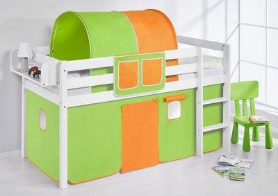 Halfhoogslaper Groen Oranje met tent
