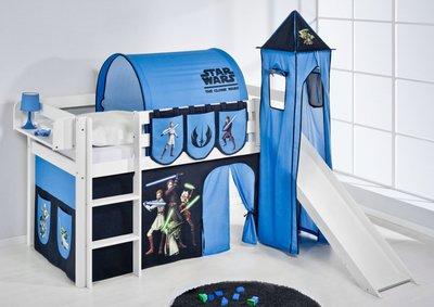 Halfhoogslaper Star Wars met tent, toren en glijbaan