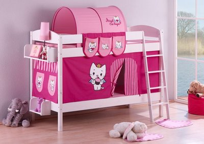 Stapelbed IDA Angel Cat Sugar met tent en lattenbodems