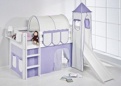Halfhoogslaper Lila met tent, toren en glijbaan