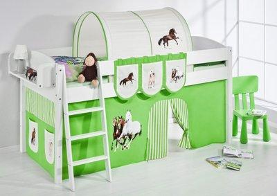 Halfhoogslaper IDA Paard Groen met tent
