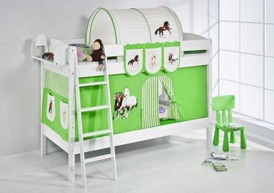 Stapelbed IDA Paard Groen met tent en lattenbodem