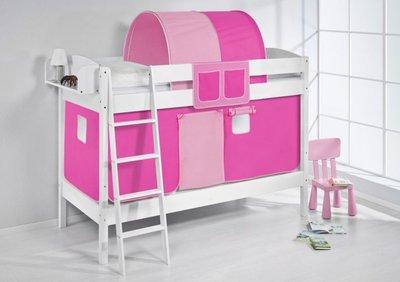 Stapelbed IDA Roze met tent en lattenbodems