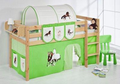 Halfhoogslaper Paard Groen Blank met tent