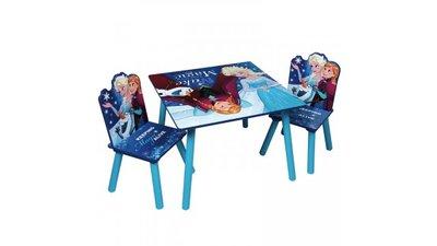 Kindertafeltje met 2 stoeltjes Frozen Blue