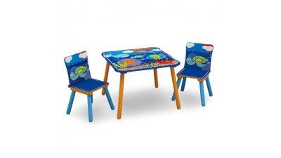 Kindertafeltje met 2 stoeltjes Tommy Turtle