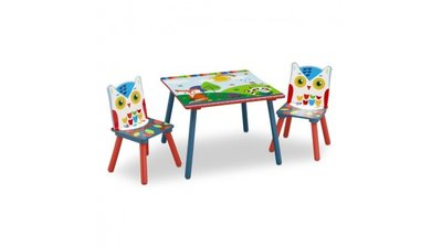 Kindertafeltje met 2 stoeltjes Woodland Tales