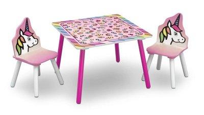 Kindertafeltje met 2 stoeltjes Unicorn Dreams